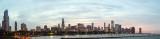 Chicago Skyline across Lake Michigan Panorama