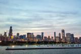 Chicago Skyline across Lake Michigan