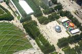 Millennium Park, Cloud Gate, Pritzker Pavilion, Chicago view from the Aon Center