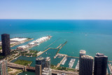 Navy Pier, Lake Michigan, Chicago view from the Aon Center