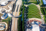 Millennium Park, Pritzker Pavilion, Chicago view from the Aon Center