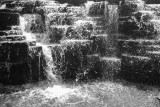 Waterfall, Aon Center, Chicago, Black and White