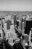 Chicago river, Chicago view from the Aon Center, Black and White