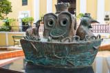 Jorge Zeno, Penguins in a boat, Old San Juan