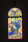 Stained glass, San Juan Bautista Cathedral, Old San Juan
