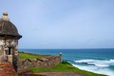 City walls (La Muralla) and tower, Atlantic Ocean, Old San Juan