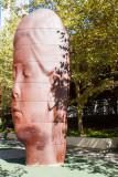 Giant heads, Jaume Plensa, Chicago, IL