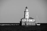 Chicago Lighthouse, Chicago, IL, Black and White