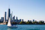 Hancock Tower, Sailboat, Chicago, IL