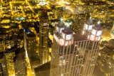 Night View of Chicago, Hancock Tower, IL