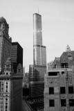 Trump Tower, Chicago, IL, Black and White