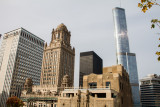 Jeweler's Building, Kemper and Trump Tower, from MDA City Apartments, Open House Chicago 2014