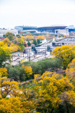 Soldier Field, Metra tracks, View from the Presidential Suite, Blackstone Hotel, Fall Colors, Chicago Open House 2014