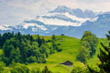 Snow capped mountains, View from Burgenstock, Lucerne, Switzerland