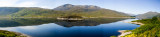 Mountain Lake, Isle of Skye panorama, Scotland
