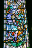 Stained glass, St. Mungo's Cathedral, Glasgow, Scotland