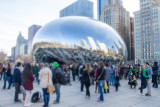 Lovers, Cloud Gate, Chicago, St. Patrick's Day, 2015