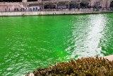 Chicago River is green, St. Patrick's Day, 2015