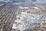 Winter, Chicago from the sky