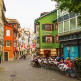 A cafe, a street, Zurich, Switzerland