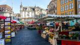 Farmer's market, Marktplatz, Basel, Switzerland