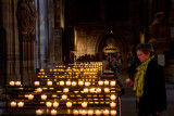 Candles, La cathedrale Notre-Dame de Strasbourg, France