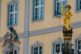 Golden statue, Freiburg im Breisgau, Black Forest, Germany