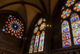 Stained Glass Window, Freiburg Munster medieval cathedral, Freiburg im Breisgau, Black Forest, Germany