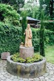 Gardens, Stadtkirche Sankt Marien, Gengenbach, Black Forest, Germany