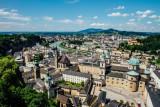 View of Salzburg, from Salzburg castle, Austria