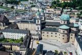 Salzburg Cathedral, View of Salzburg, from Salzburg castle, Austria