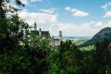 Hiding Neuschwanstein Castle, view from Marienbrucke,  Bavaria, Germany