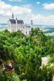 Neuschwanstein Castle, view from Marienbrucke,  Bavaria, Germany