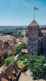 Heidenturm (Heathen Tower), View from Nuremberg Castle, Nuremberg, Bavaria, Germany