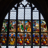 Stained Glass, St. Lorenz, Nuremberg, Bavaria, Germany