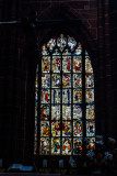 Stained Glass Window, St. Lorenz, Nuremberg, Bavaria, Germany