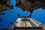 New Town Hall, view into the sky,  Bavaria, Germany