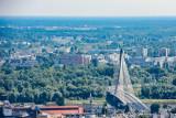 Holy Cross Bridge across Vistula, Warsaw, Poland