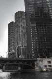 Marina City, B&W, Chicago, Illinois