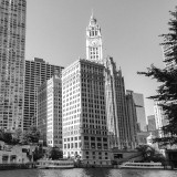 Wrigley Building, B&W, Chicago, Illinois