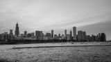 Chicago B&W, View from Shedd Aquarium