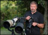 Canon 800 + Nikon 600 together with my old Nikon F and Novoflex 400 mm (Photo: Martin Breider)