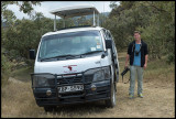 Martin with our first safarivan