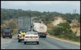 Kenyan traffic - truck incidents all the time...
