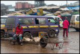 Matatus station north of Nairobi