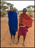 Masai boy with big brother - Amboseli