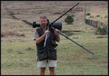 In Masai Mara with Nikon D4 and 600/4 VR on Wimberley  (Photo: Martin Breider)