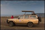 Early morning drive into Masai Mara - Our driver Joshua & Martin
