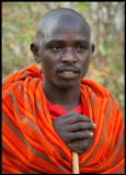 Masai boy in the local village near Maara