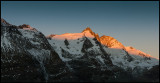 Grossglockner (Austria) at dawn - 4 pictures panorama